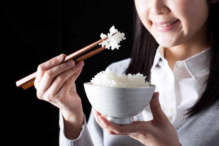 eat white rice